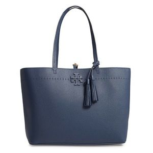 Tory Burch Mcgraw Triple Compartment Leather Tote